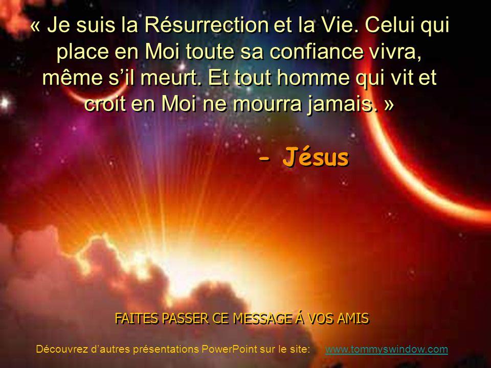 FAITES PASSER CE MESSAGE Á VOS AMIS