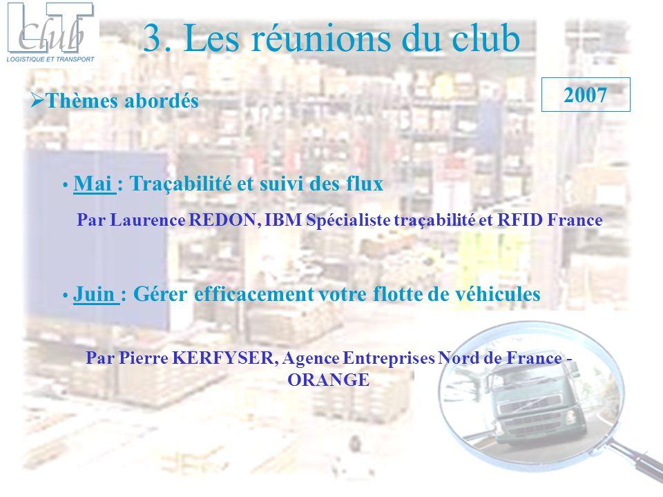 3. Les réunions du club 2007 Thèmes abordés