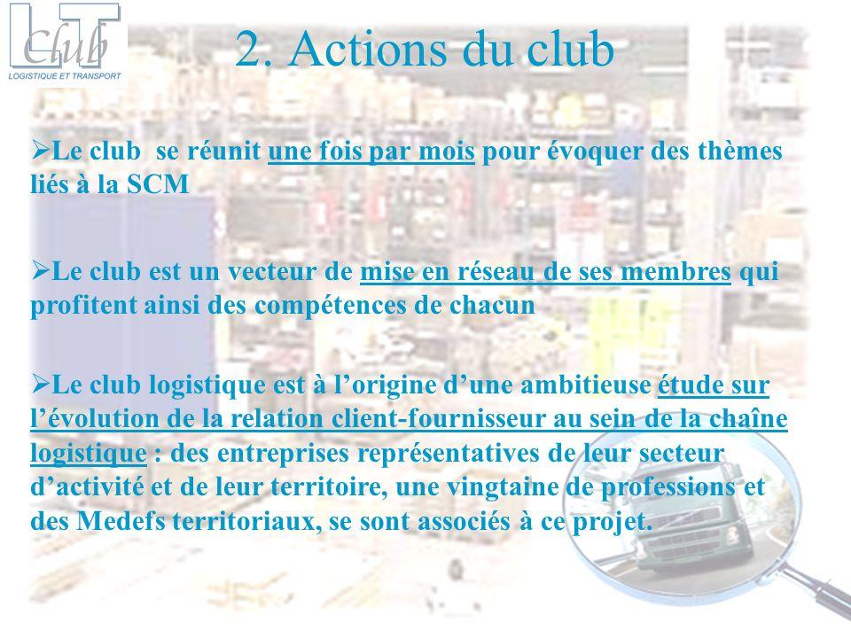 2. Actions du clubLe club se réunit une fois par mois pour évoquer des thèmes liés à la SCM.