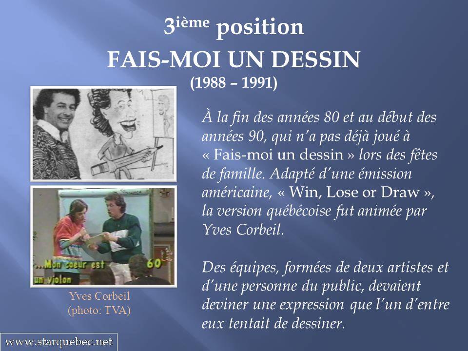 3ième position FAIS-MOI UN DESSIN
