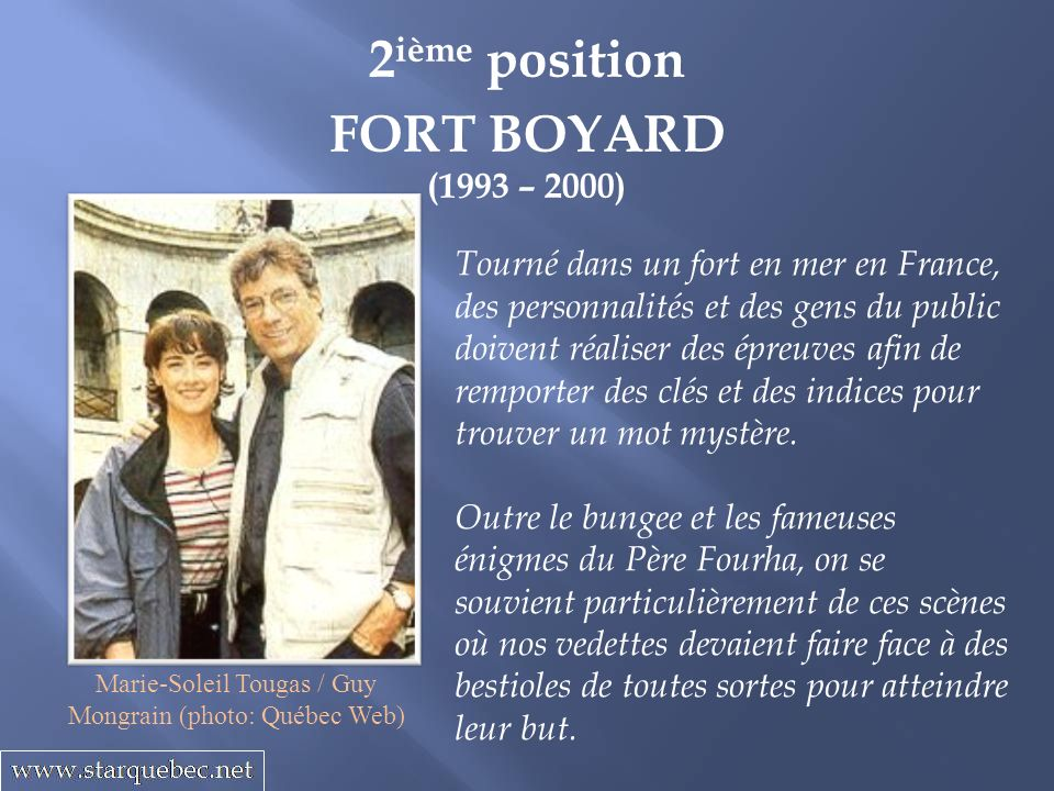Marie-Soleil Tougas / Guy Mongrain (photo: Québec Web)