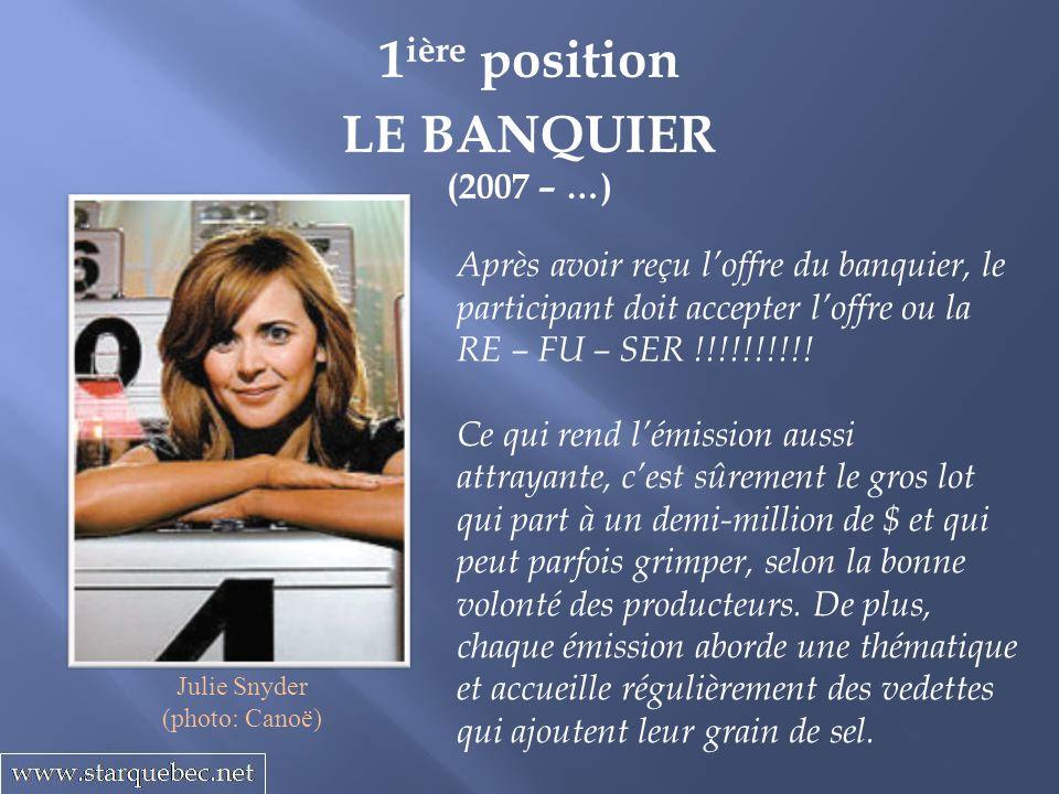 1ière position LE BANQUIER
