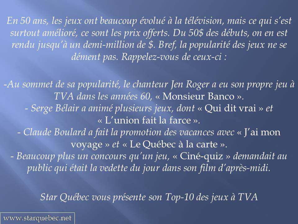 Star Québec vous présente son Top-10 des jeux à TVA