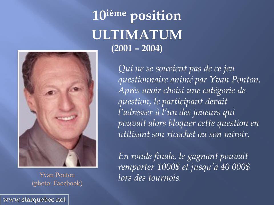 10ième position ULTIMATUM