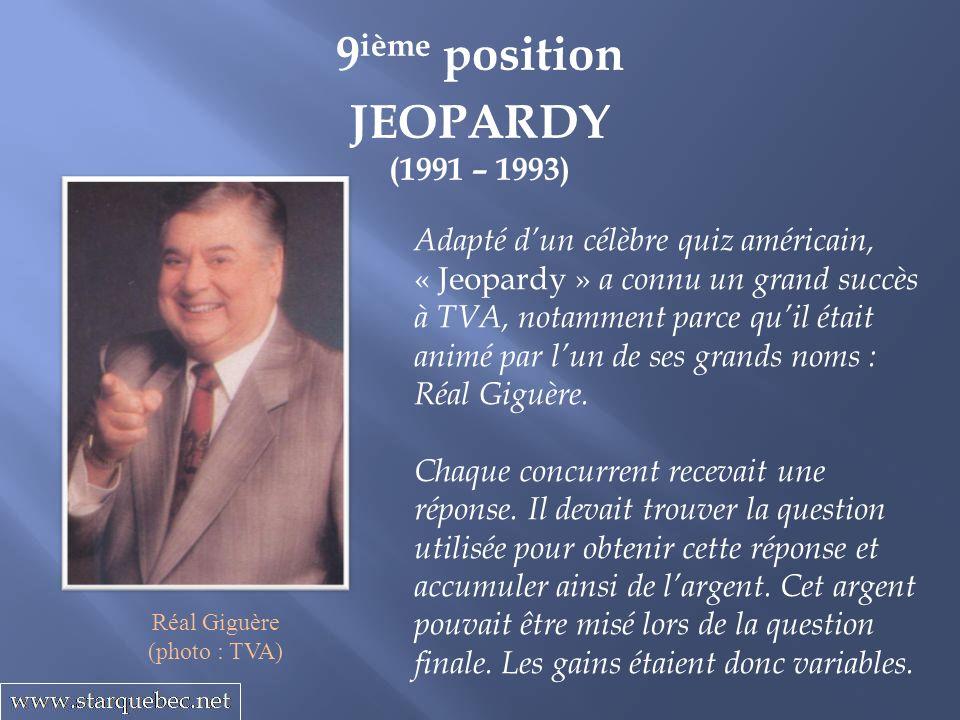 9ième position JEOPARDY