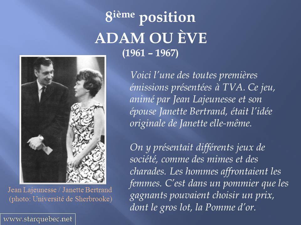8ième position ADAM OU ÈVE