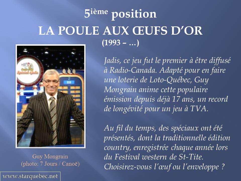 5ième position LA POULE AUX ŒUFS D'OR