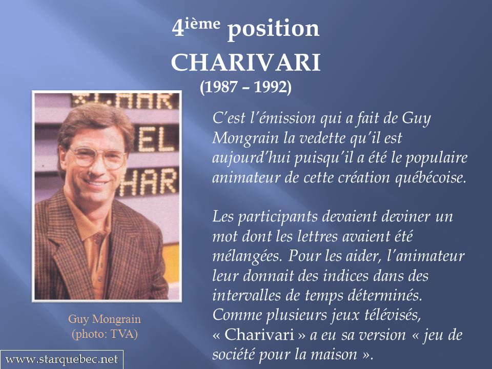 4ième position CHARIVARI