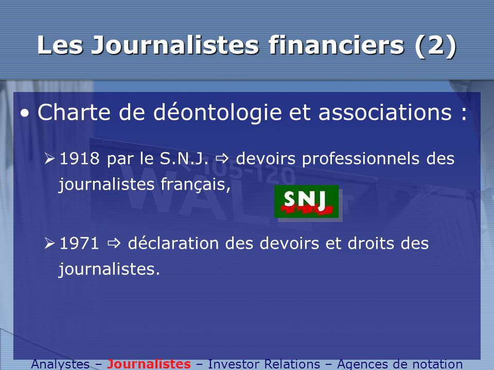 Les Journalistes financiers (2)