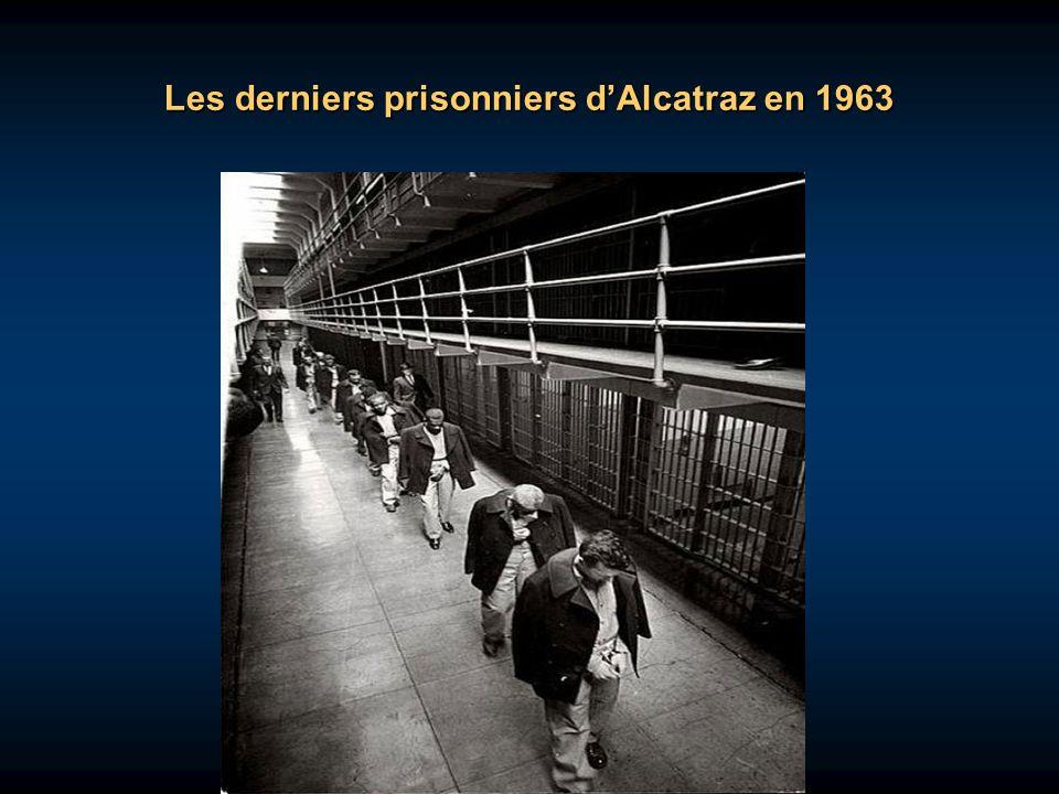 Les derniers prisonniers d'Alcatraz en 1963