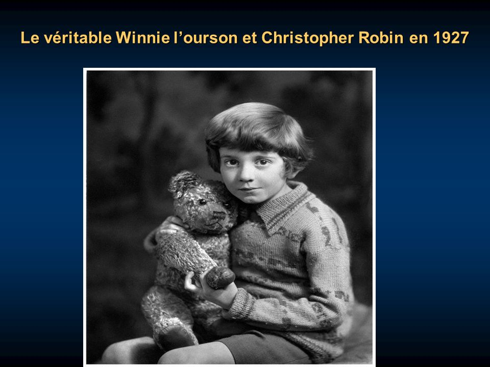 Le véritable Winnie l'ourson et Christopher Robin en 1927