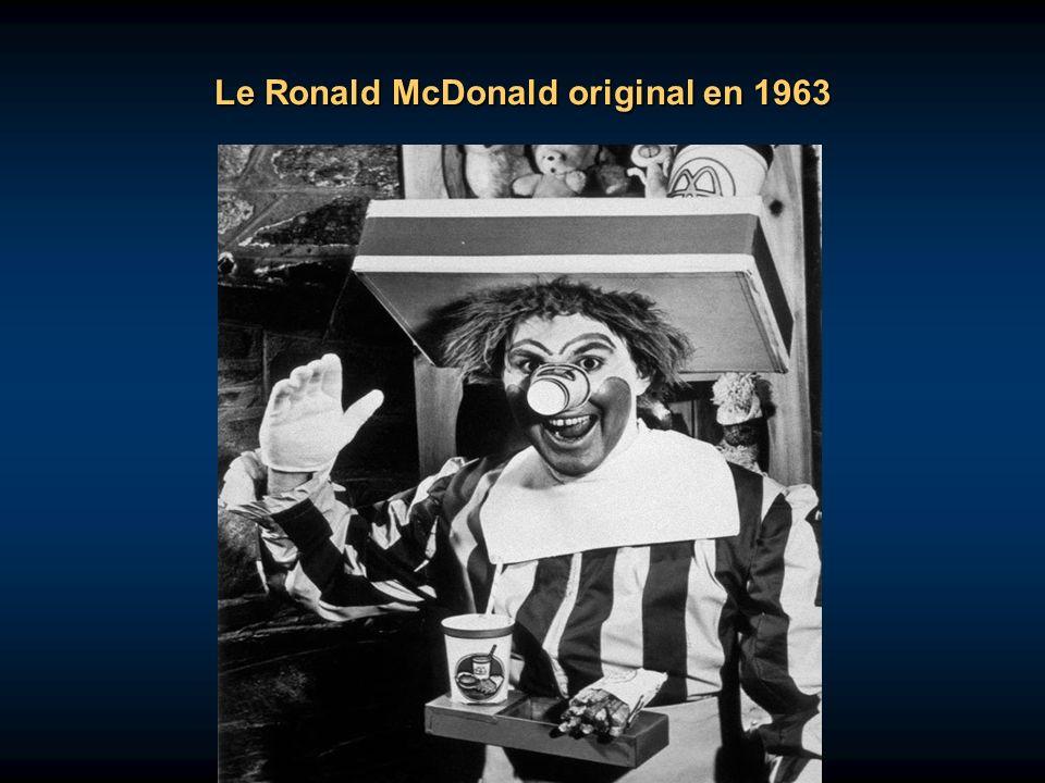 Le Ronald McDonald original en 1963