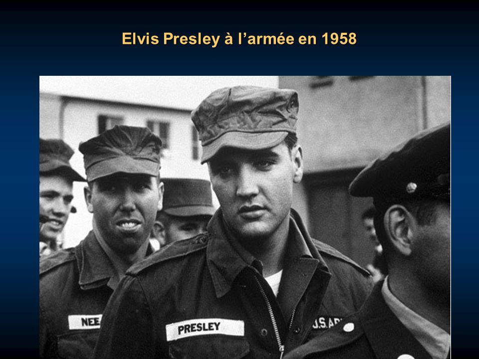 Elvis Presley à l'armée en 1958