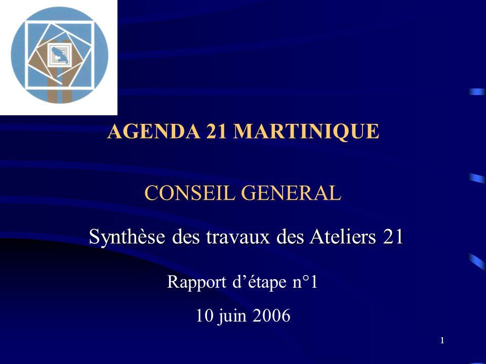 AGENDA 21 MARTINIQUE CONSEIL GENERAL