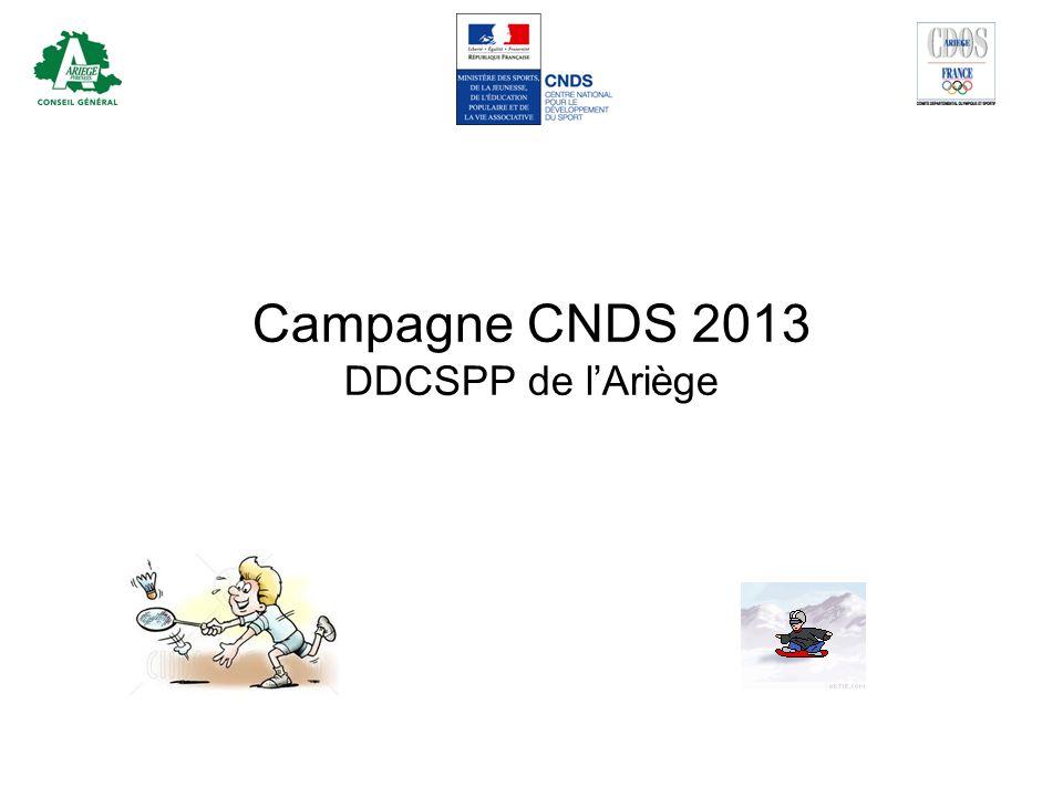 Campagne CNDS 2013 DDCSPP de l'Ariège