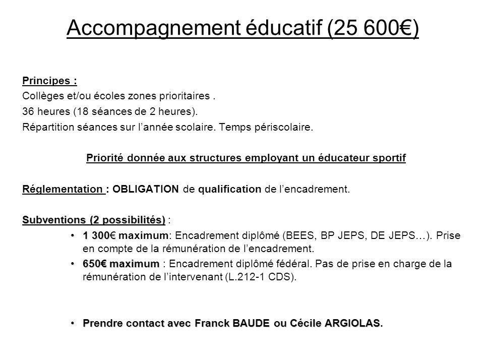 Accompagnement éducatif (25 600€)