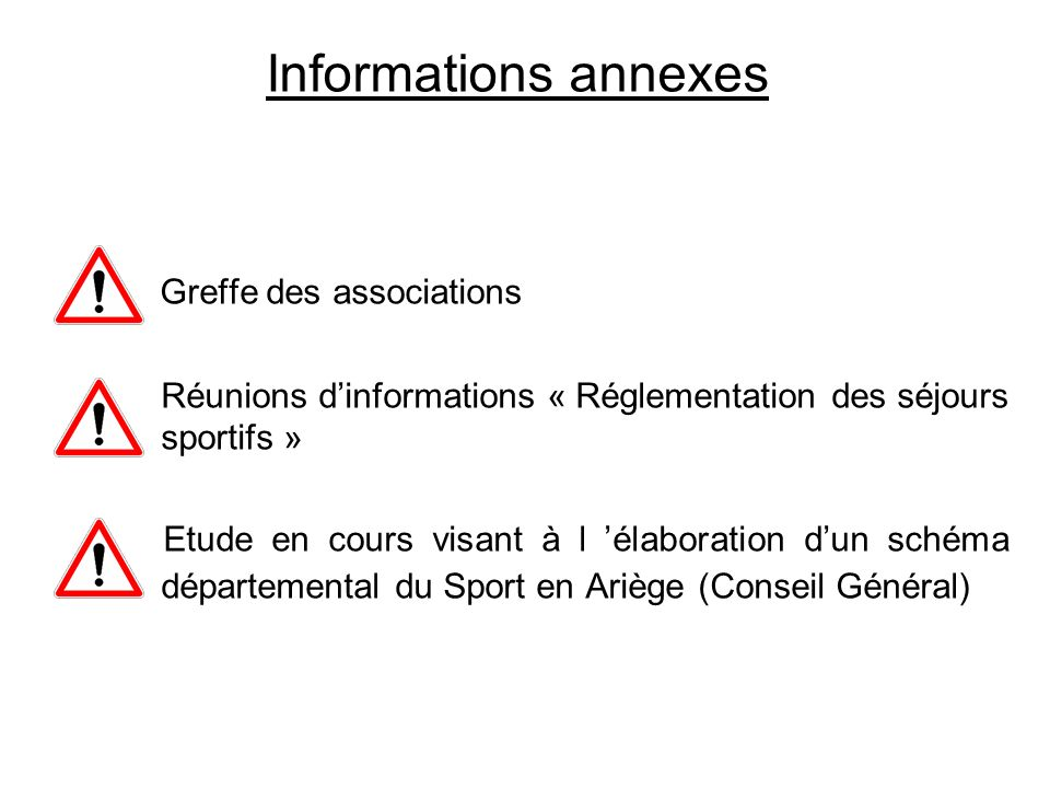 Informations annexes Greffe des associations