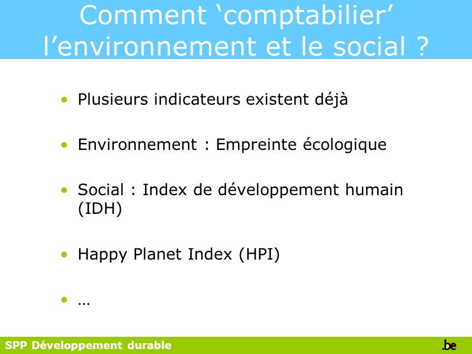 Comment 'comptabilier' l'environnement et le social