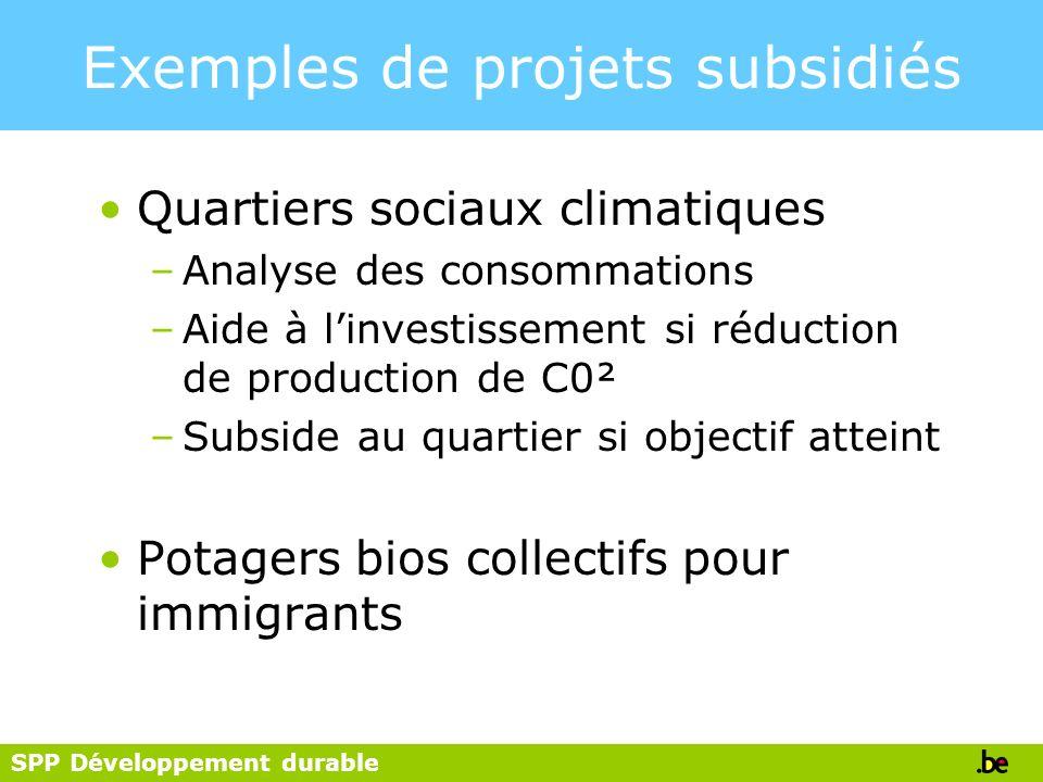 Exemples de projets subsidiés