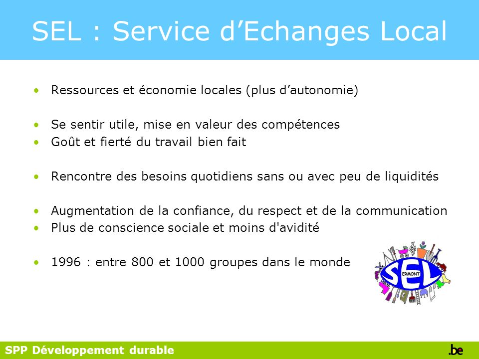 SEL : Service d'Echanges Local