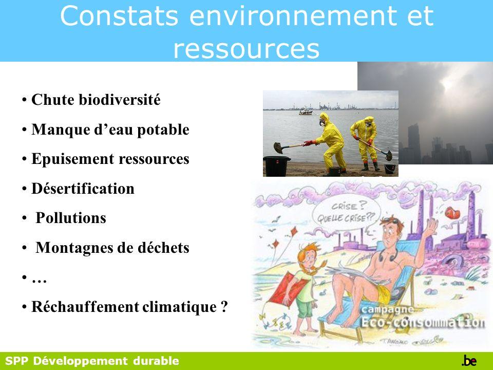 Constats environnement et ressources
