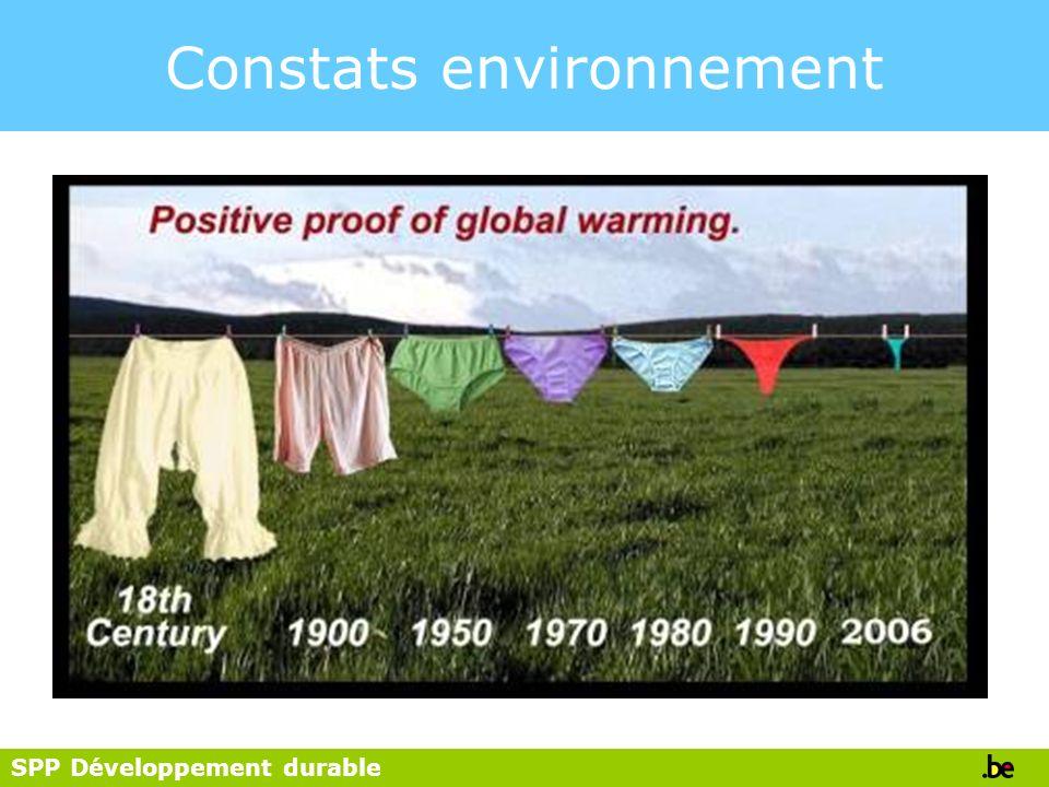 Constats environnement