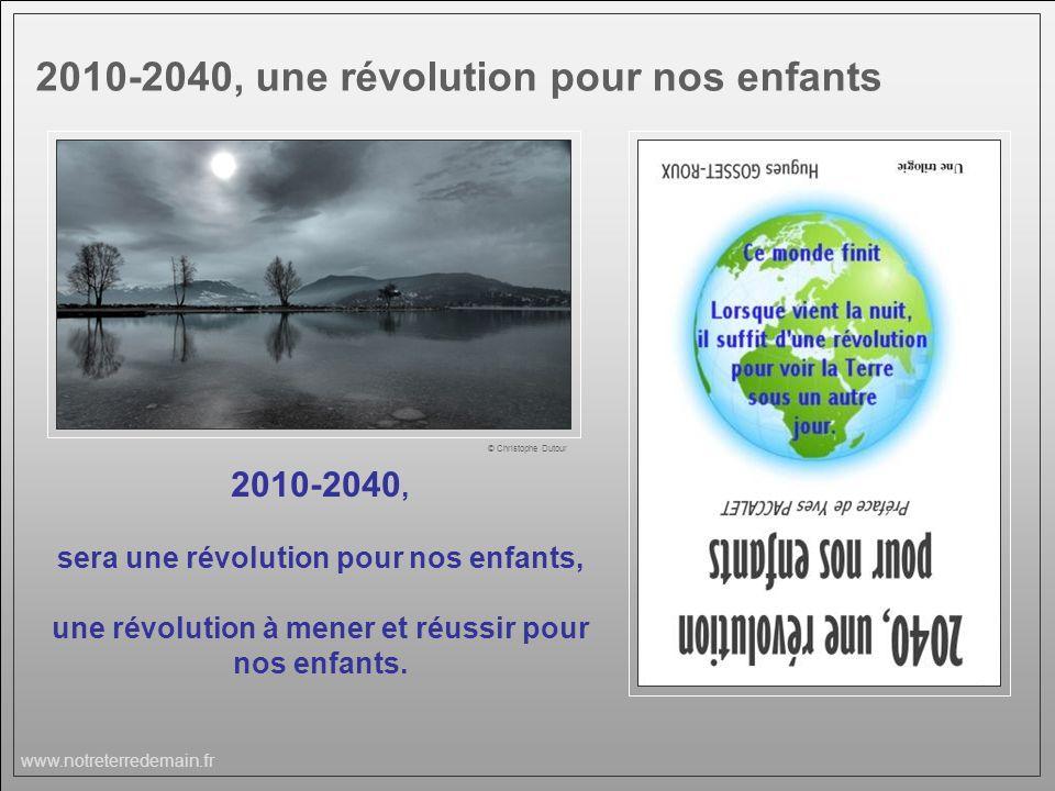 2010-2040, une révolution pour nos enfants