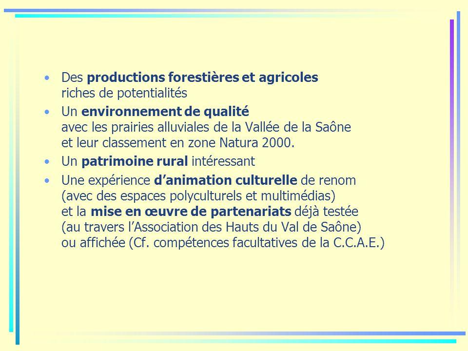 Des productions forestières et agricoles riches de potentialités