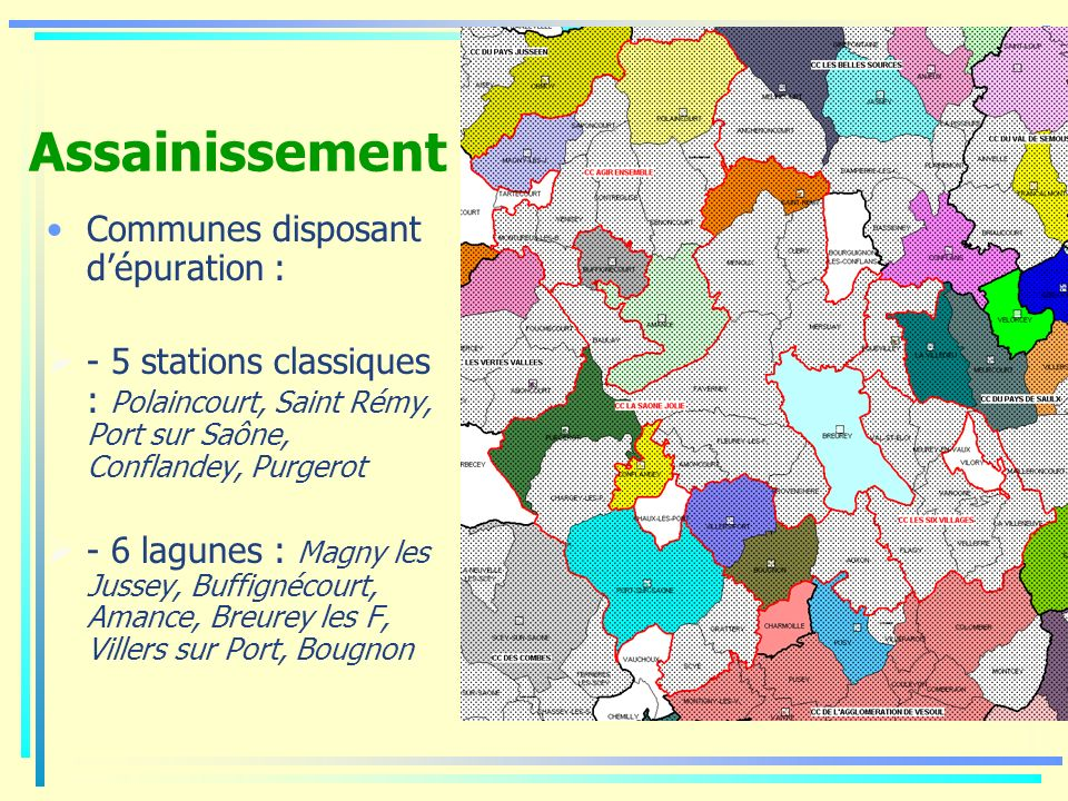 Assainissement Communes disposant d'épuration :