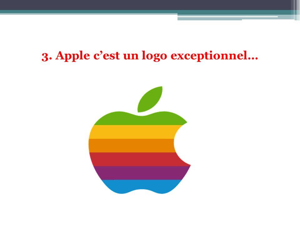 3. Apple c'est un logo exceptionnel…