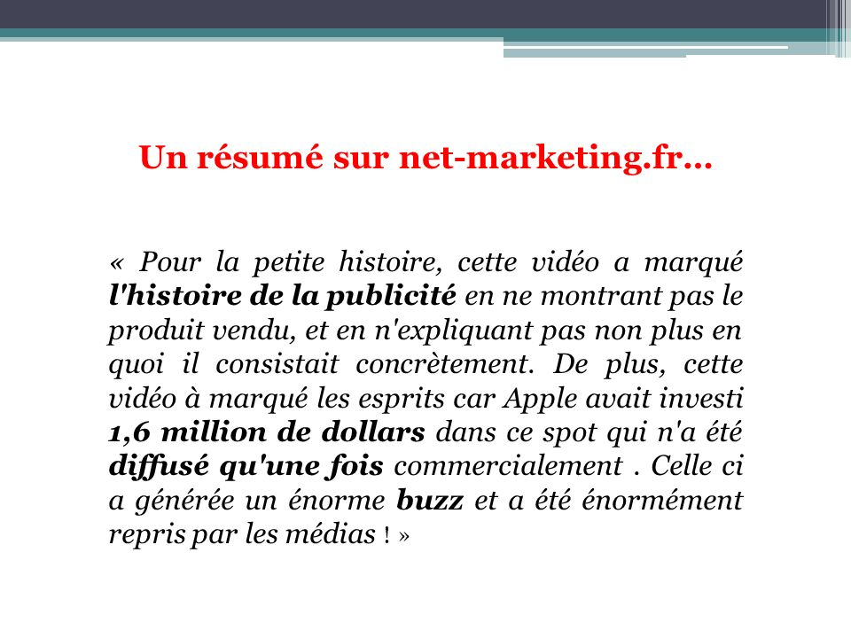 Un résumé sur net-marketing.fr…