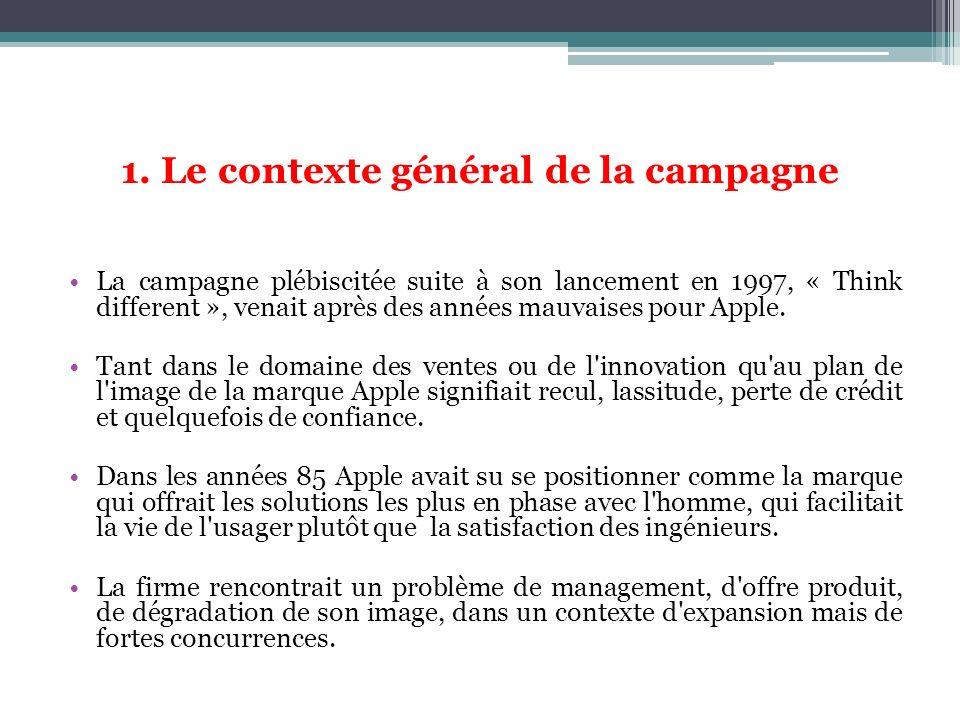 1. Le contexte général de la campagne