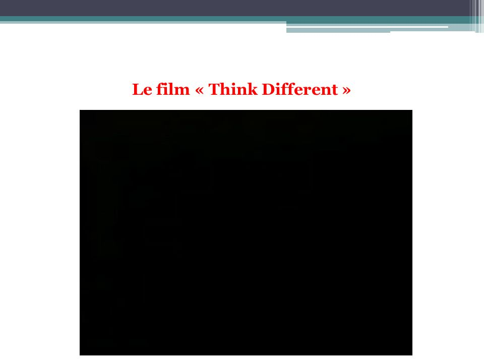 Le film « Think Different »