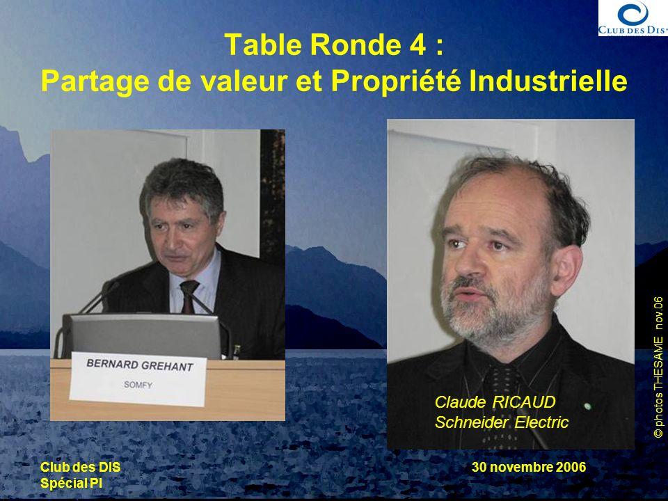 Table Ronde 4 : Partage de valeur et Propriété Industrielle