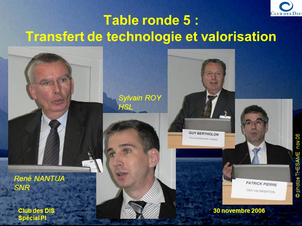 Table ronde 5 : Transfert de technologie et valorisation