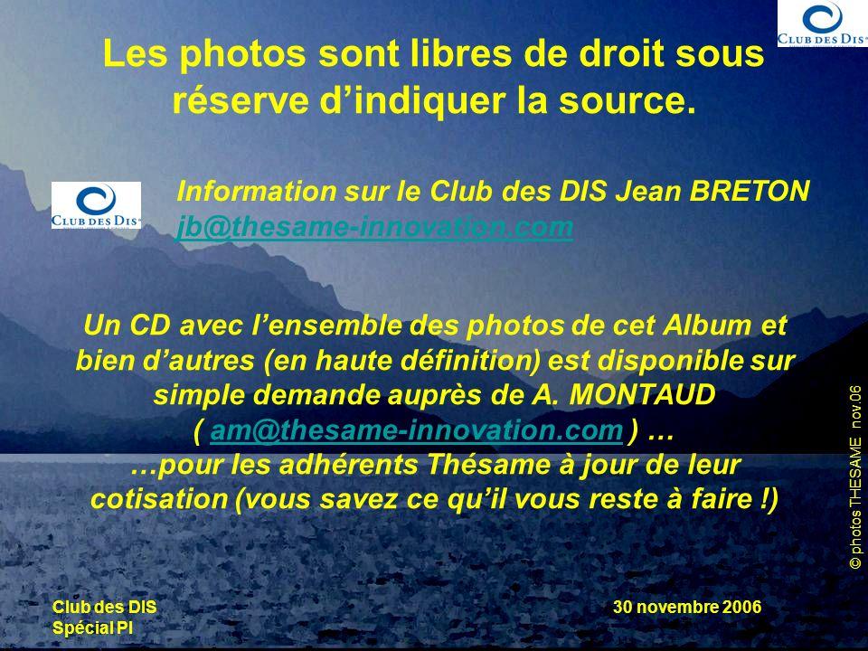 Information sur le Club des DIS Jean BRETON
