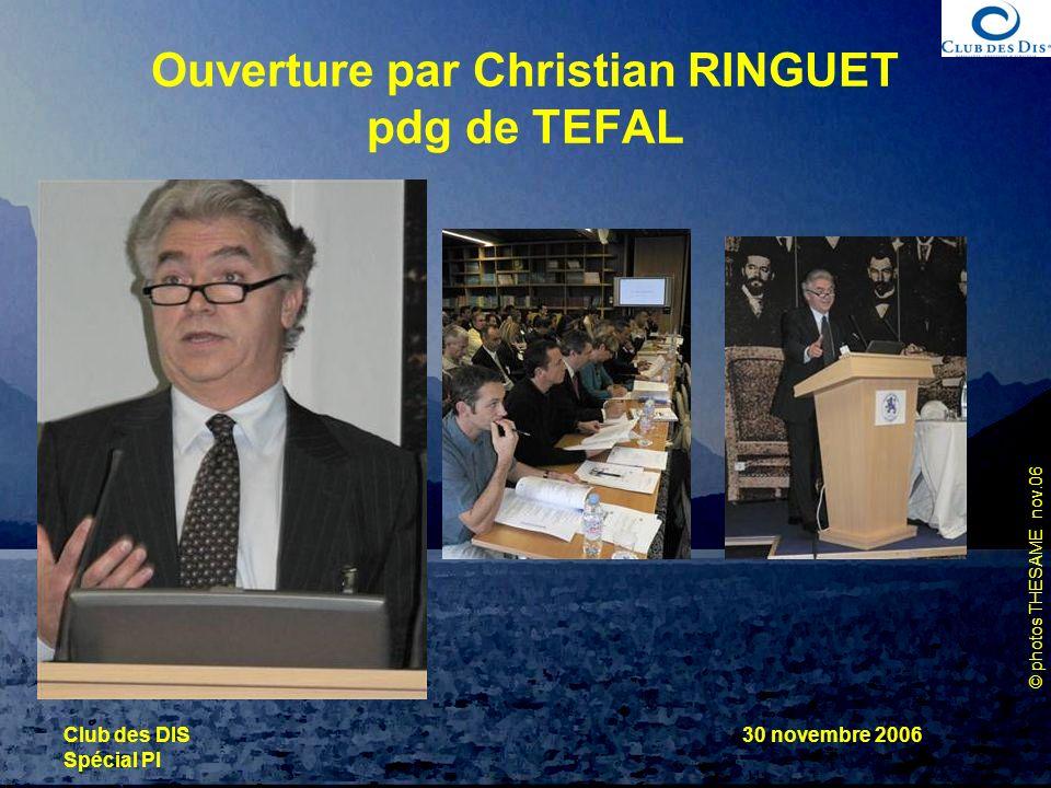 Ouverture par Christian RINGUET pdg de TEFAL