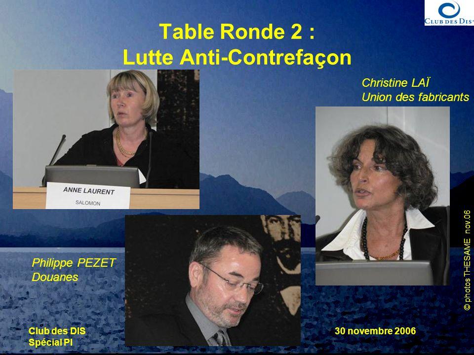 Table Ronde 2 : Lutte Anti-Contrefaçon