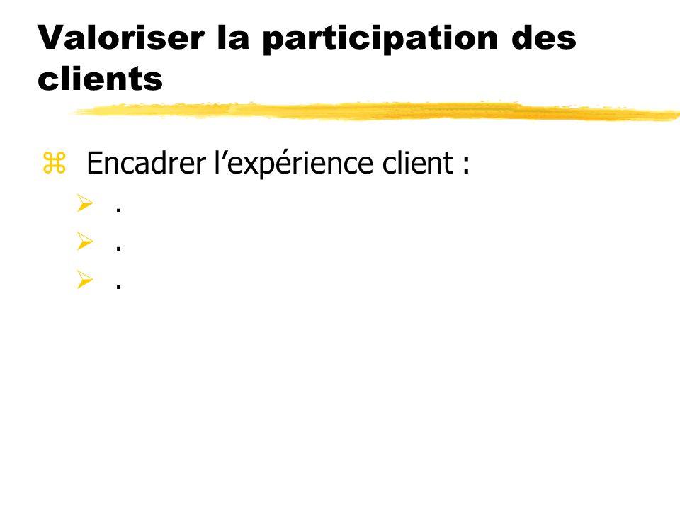Valoriser la participation des clients