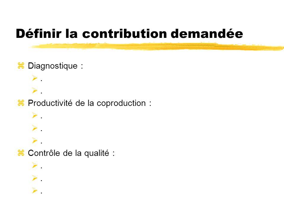 Définir la contribution demandée