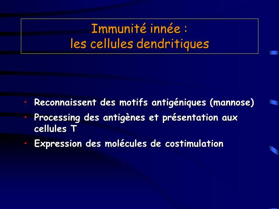 Immunité innée : les cellules dendritiques