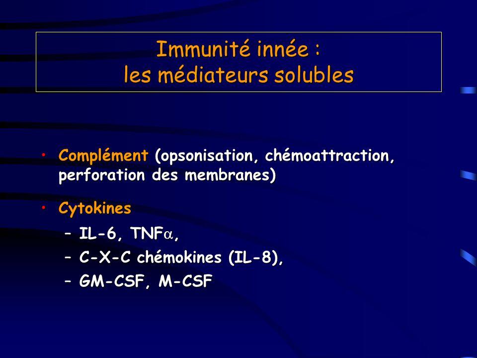 Immunité innée : les médiateurs solubles