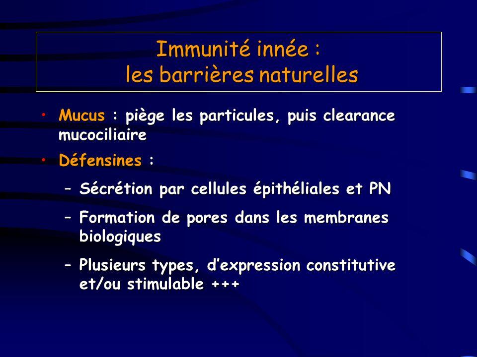 Immunité innée : les barrières naturelles