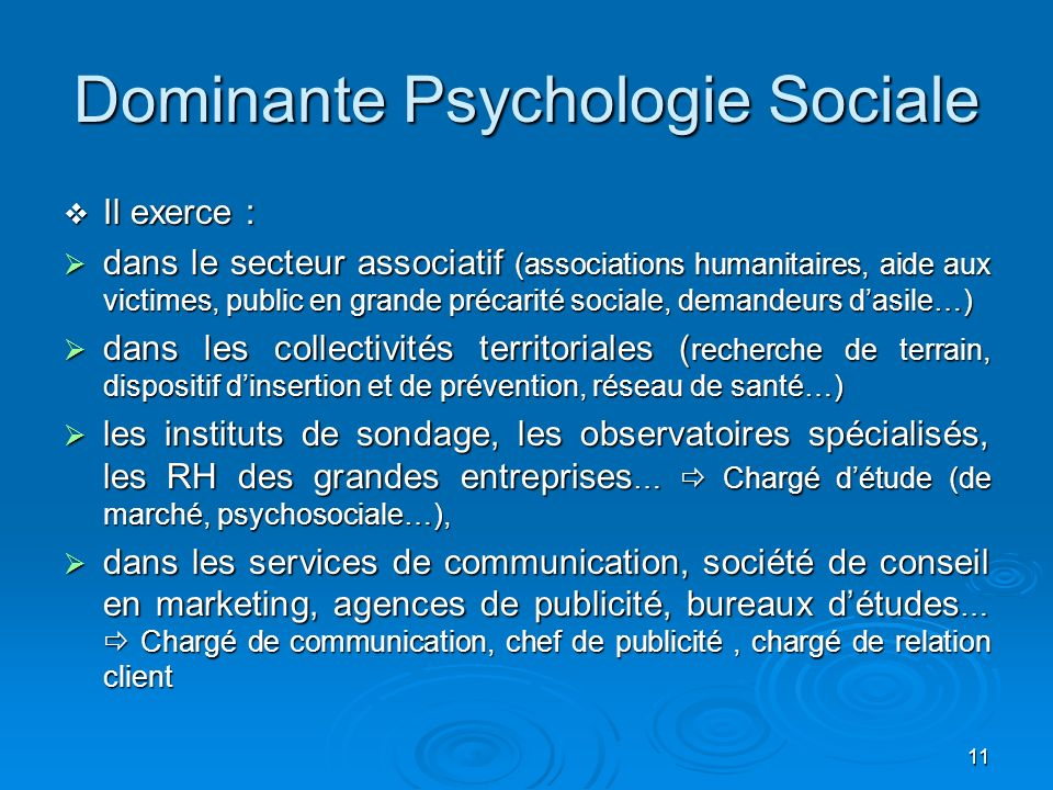 Dominante Psychologie Sociale