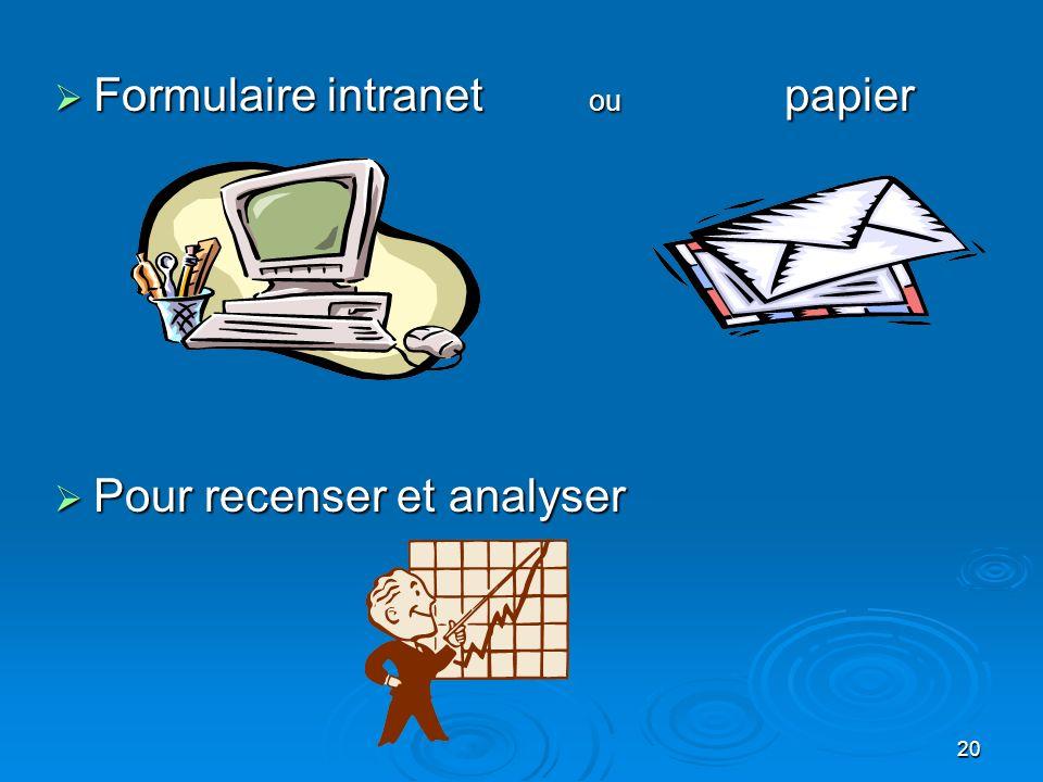 Formulaire intranet ou papier