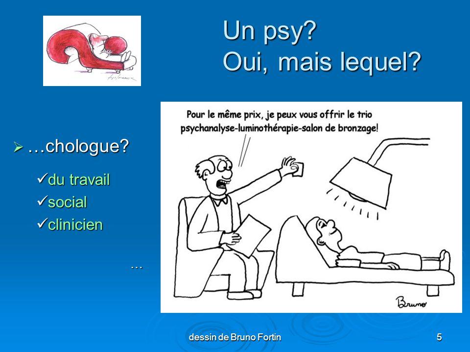 Un psy Oui, mais lequel …chologue du travail social clinicien …