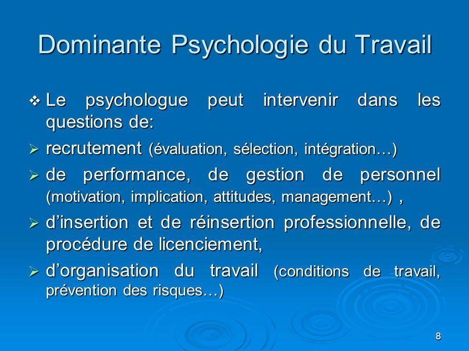 Dominante Psychologie du Travail
