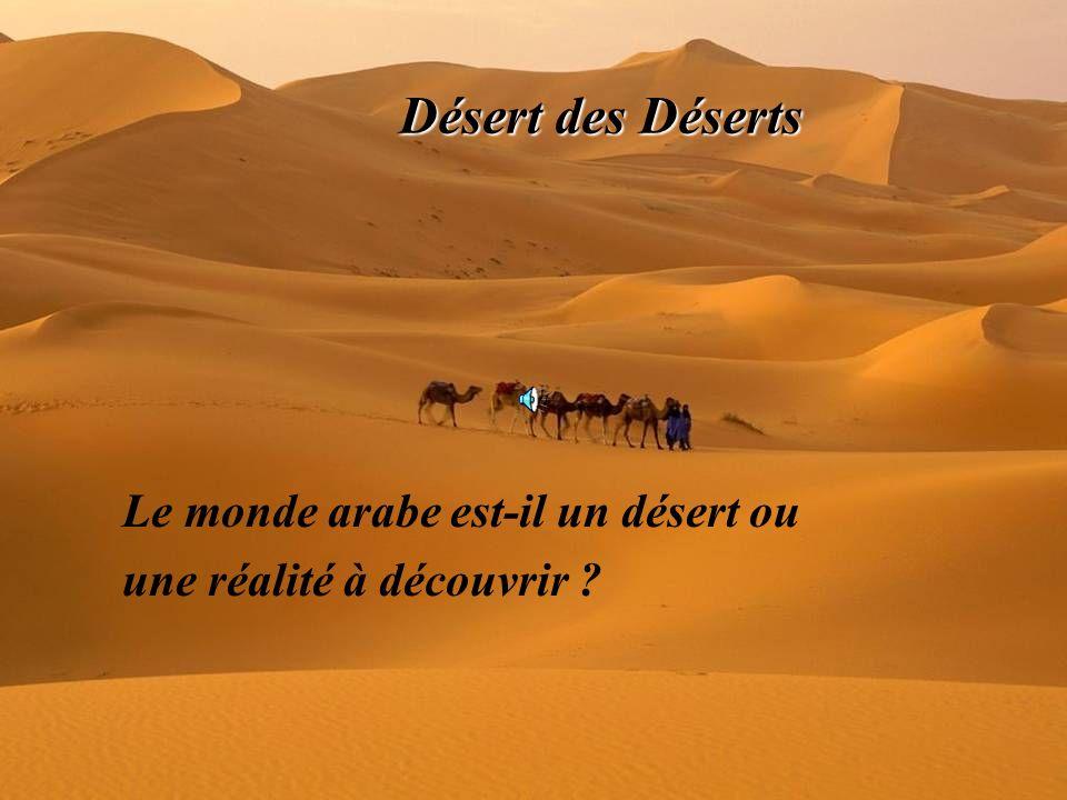 Désert des Déserts Le monde arabe est-il un désert ou