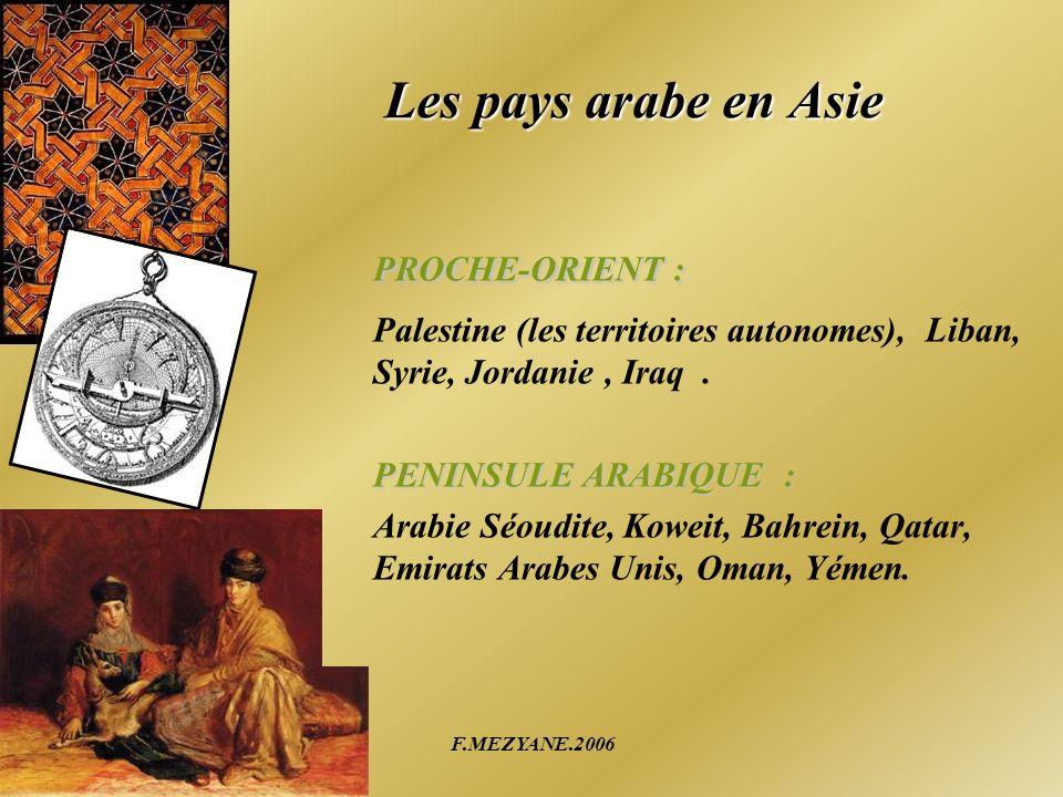PROCHE-ORIENT : Les pays arabe en Asie