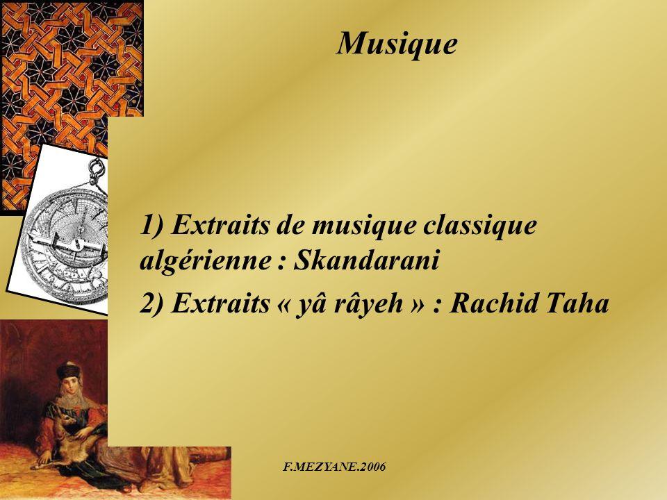 Musique 1) Extraits de musique classique algérienne : Skandarani